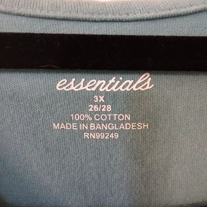 LIZ&ME Tops - LIZ&ME essentials 3X teal and black tunic top